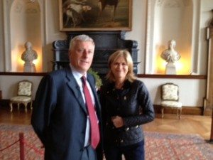 RTE's Anne Cassin gets a person tour of Russborough from CEO Eric Blatchford