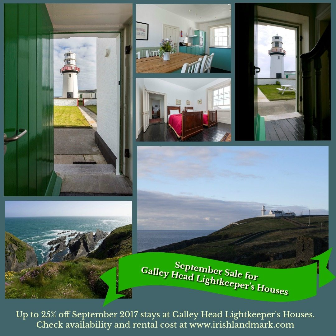galley head lightkeeper's houses special offer | irish landmark trust