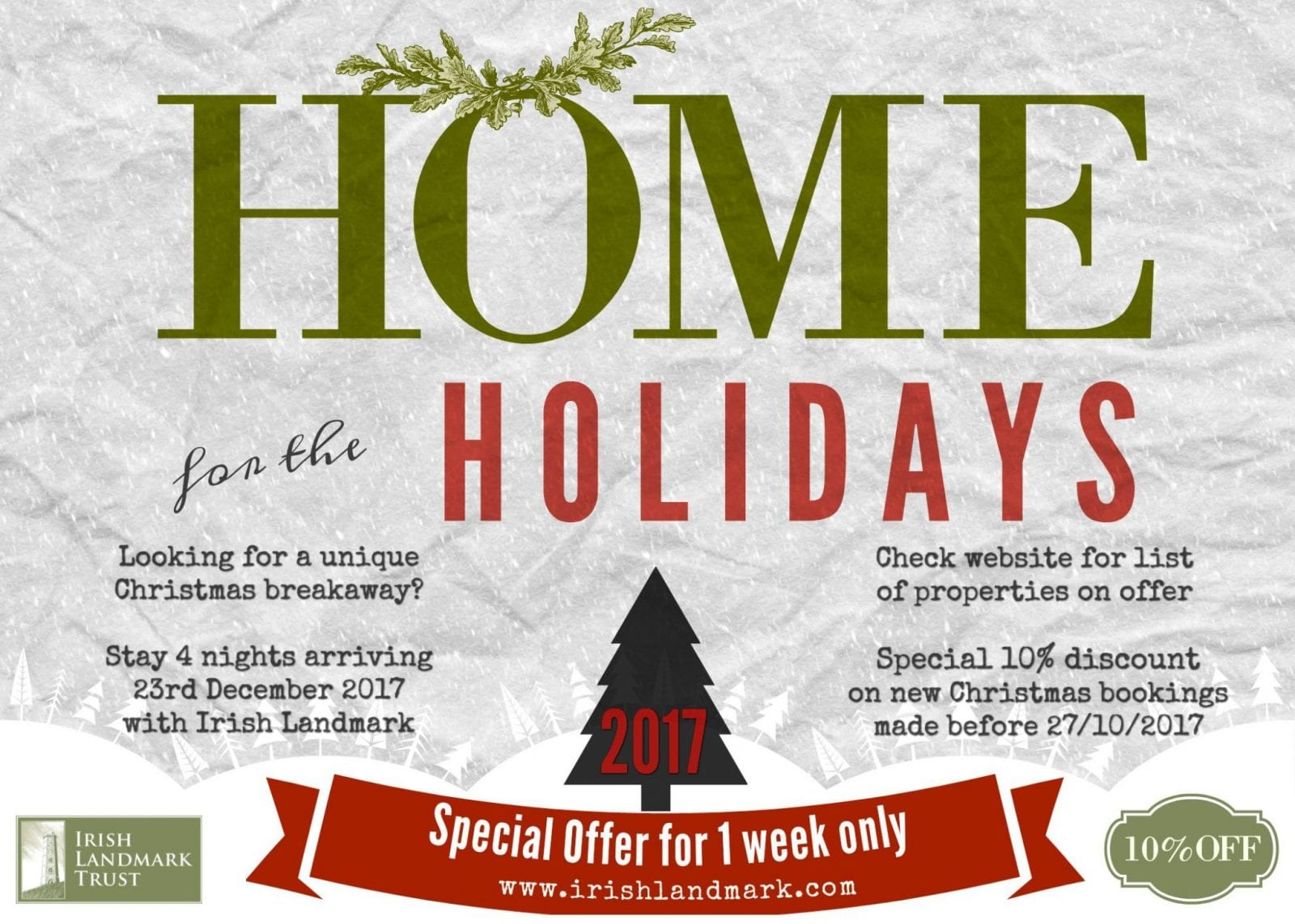 Christmas Special Offer – available for 1 week only