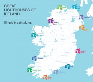 Great Lighthouses of Ireland map