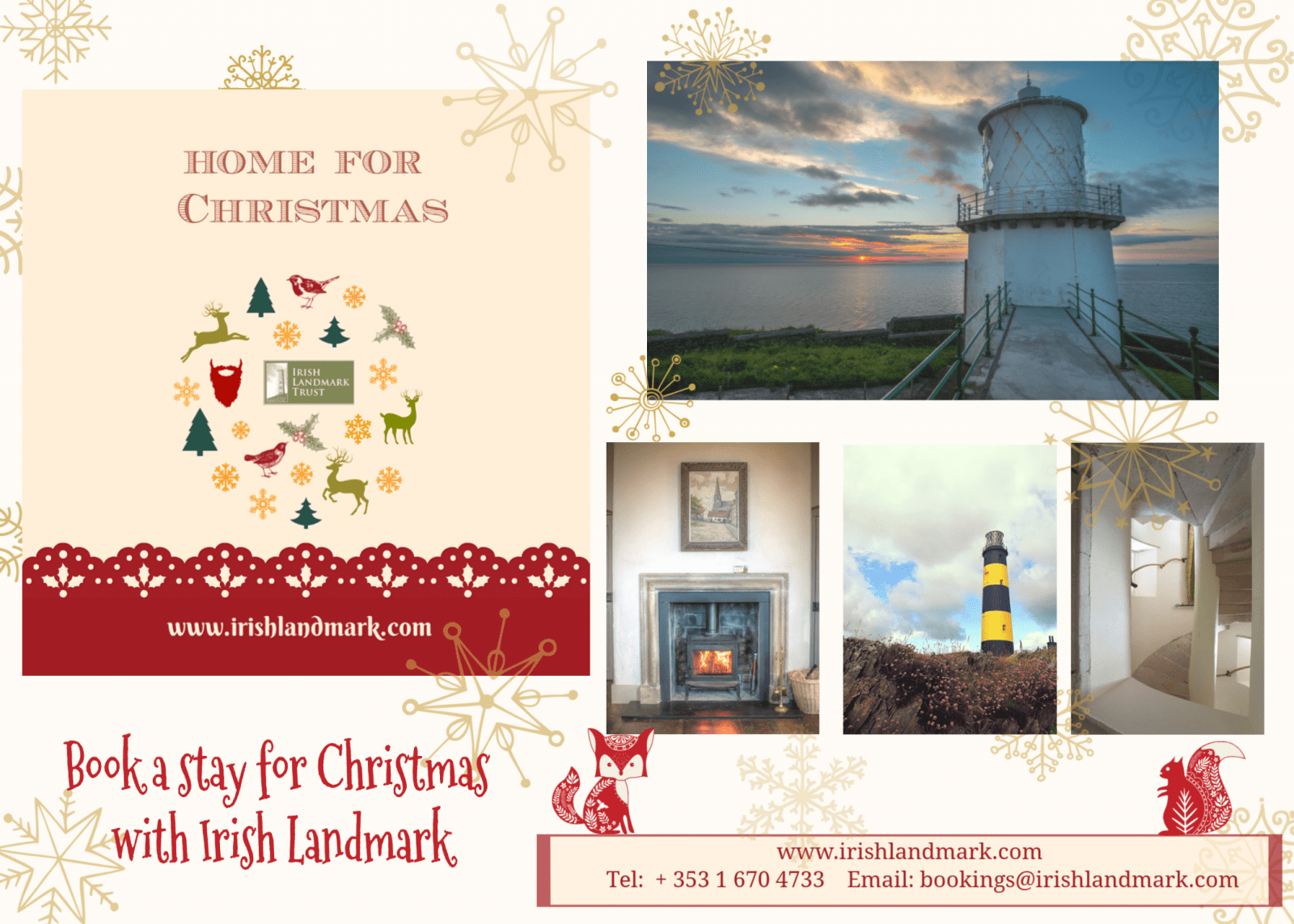 Stay with Irish Landmark this Christmas or New Year